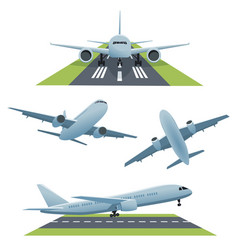set of planes in different views vector image