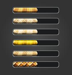 Set of waffle bar downloader vector