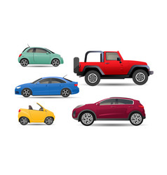 set personal realistic cars vector image