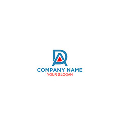 Simple ad logo design vector