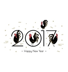 Simple Roosters new 2017 vector image