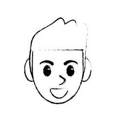 Sketchy man head face design image vector