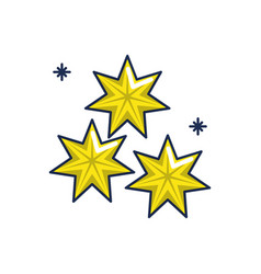 stars astrology moon line and fill image vector image