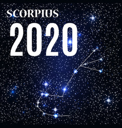 symbol scorpius zodiac sign with new year and vector image