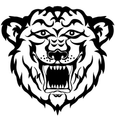 Tiger head black and white tatto vector