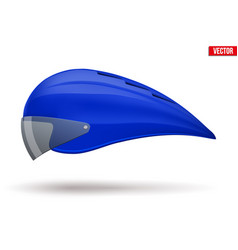 Time trial bicycle helmet vector