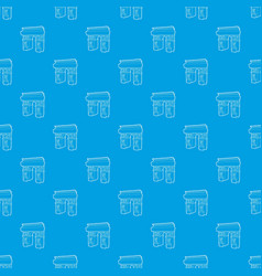 triumphal arch pattern seamless blue vector image
