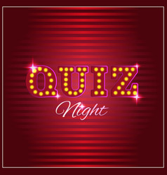 Trivia game or quiz show background with light vector