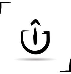 Upload arrow icon vector