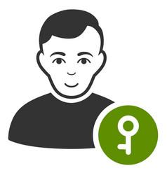 User key icon vector