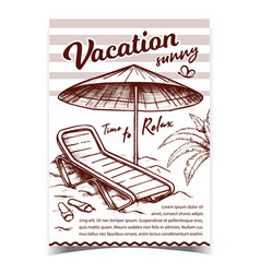 vacation sunny beach advertising banner vector image