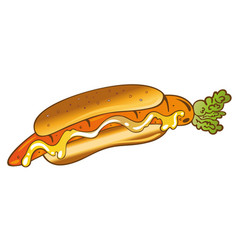 veggie hot dog vector image