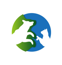 veterinary clinic logo silhouette dog and vector image