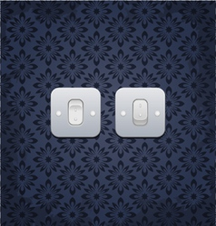 web Light On Off switch vector image