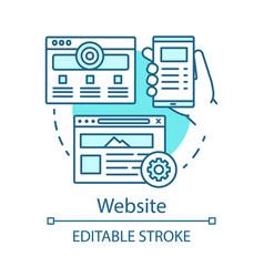 website blue concept icon channels for seo sem vector image