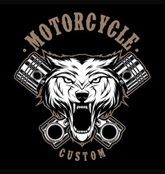 Wolves motorcycle vector
