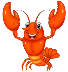 Cartoon lobster vector image vector image