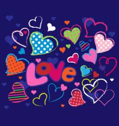 cute love design elements vector image vector image