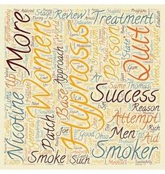 Hypnosis Helps Men Quit text background wordcloud vector image vector image
