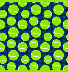 seamless sport pattern with tennis balls vector image vector image