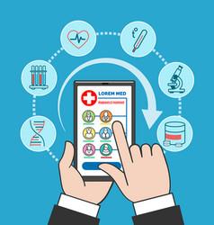 smartphone remote medical care vector image