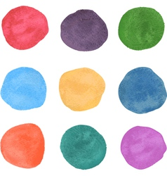 watercolor swatches vector image vector image