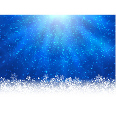 blue winter backround vector image