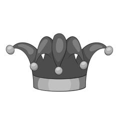 Clown hat icon gray monochrome style vector image vector image