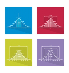 Curve of Standard Normal Distribution vector image vector image
