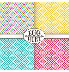 easter egg hunt seamless pattern vector image vector image