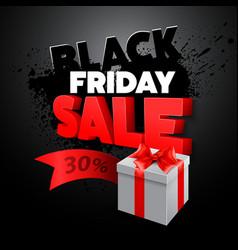 Black Friday gift box vector image