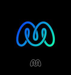 m monogram mobius logo vector image vector image