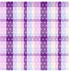 seamless plaid and polka dots background texture vector image vector image