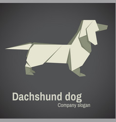 dachshund dog origami vector image vector image