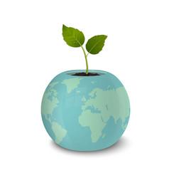ecology concept earth day world environmen day vector image vector image