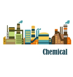 Flat factories and plants vector image vector image
