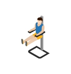Man doing workout in gym icon isometric 3d style vector image vector image