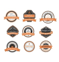 Quality ang warranty labels vector image vector image