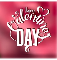 Valentines day vintage lettering card vector image vector image