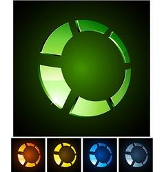 3d vibrant ring emblems vector