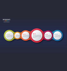 6 options infographic design presentation vector image