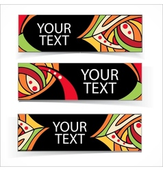Abstract colorful headers or banners set vector