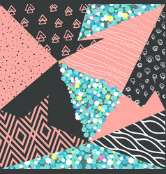 abstract memphis seamless pattern geometric shapes vector image