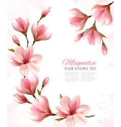 abstract spring background with beautiful vector image