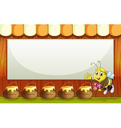 An empty template with a bee vector image