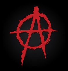 Anarchy symbol letter vector