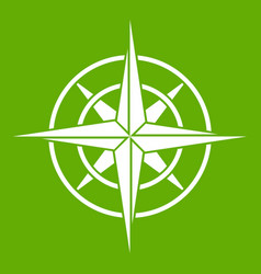 ancient compass icon green vector image