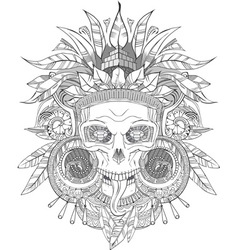 Aztec indian Skull vector