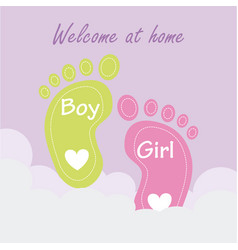 Baby shower design over pink background vector