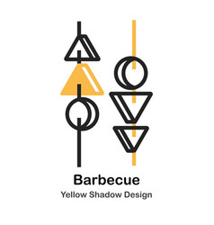 barbecue lineal color vector image